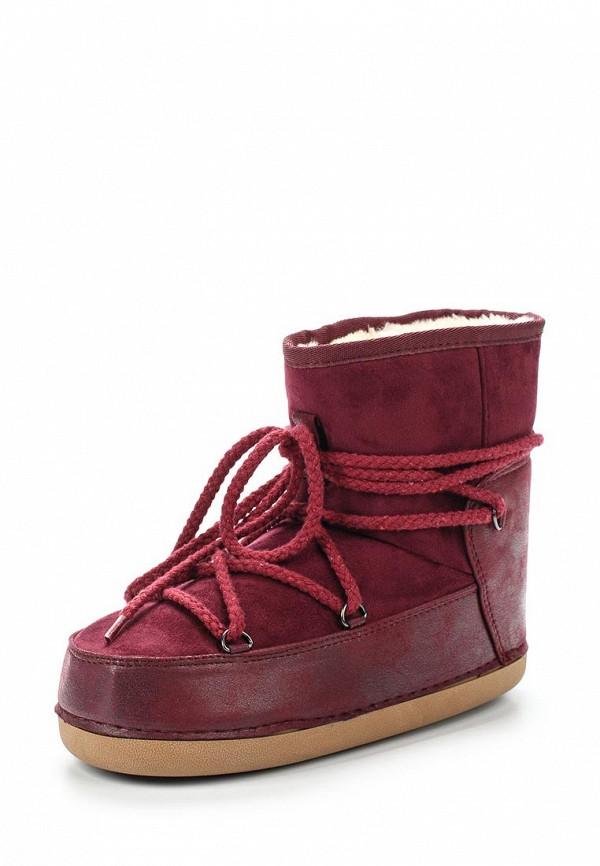 Дутики Ideal Shoes. Цвет: бордовый