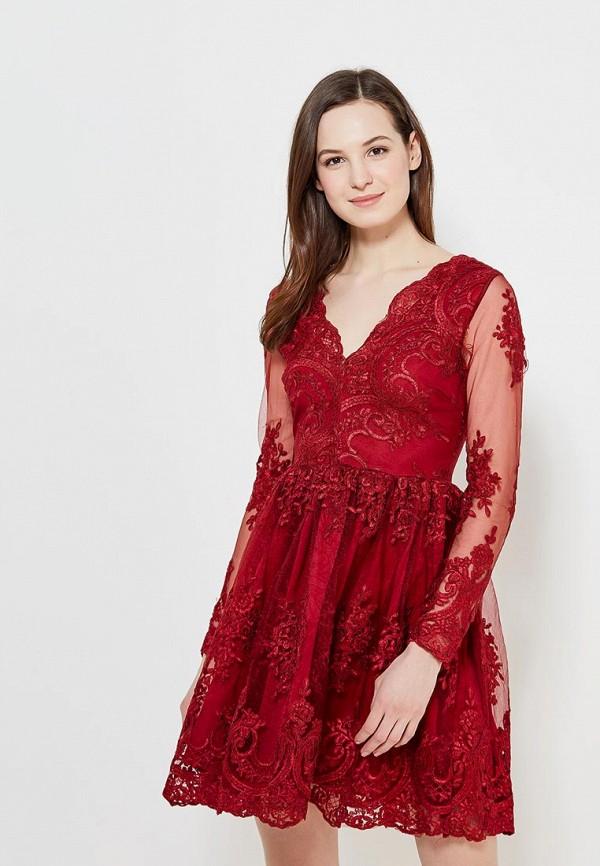 Купить Платье Imocean, IM007EWAOGB5, бордовый, Весна-лето 2018