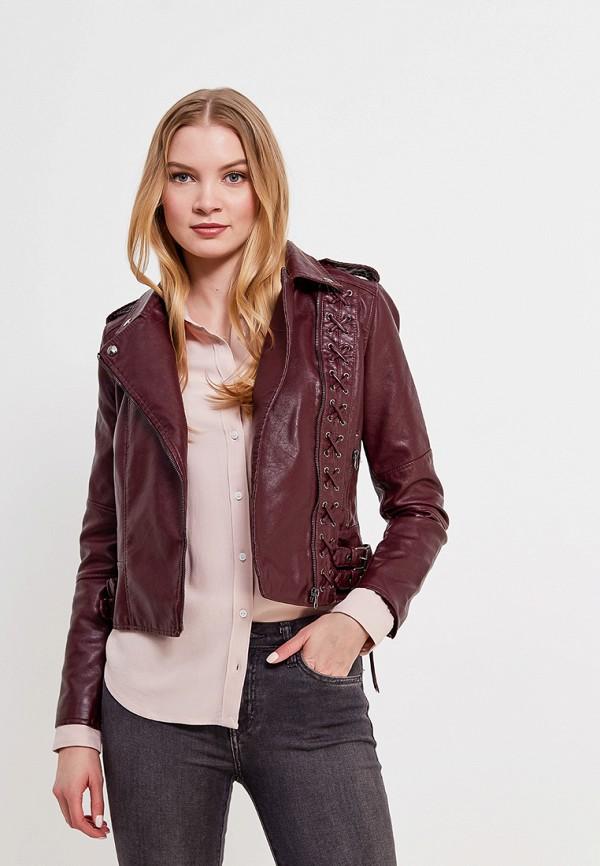 Купить Куртка кожаная Imocean, IM007EWASDE2, бордовый, Весна-лето 2018