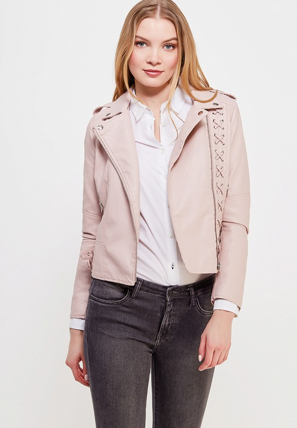 Куртка кожаная Imocean цвет розовый сезон весна, демисезон, лето страна Россия размер 42, 44, 46, 48