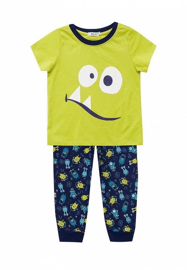Пижама  желтый, синий цвета