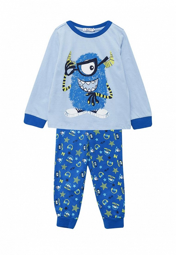 Пижама  голубой, синий цвета