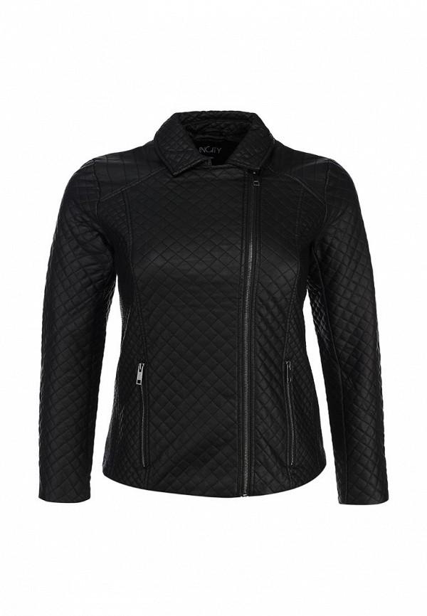Куртка кожаная Incity IN002EWCKF26. Цвет: черный