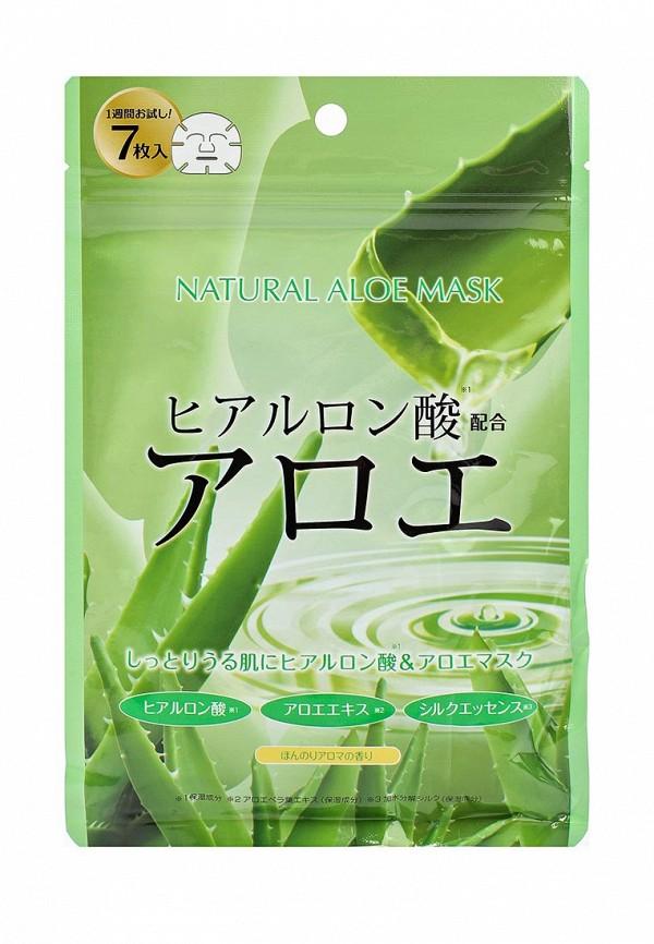Курс Japan Gals натуральных масок для лица с экстрактом алоэ, 7 шт