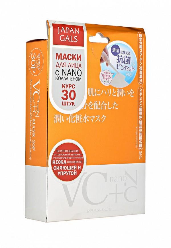 Japan Gals Маска Витамин С + Нано-коллаген, 30 шт