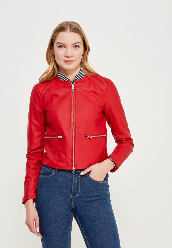 Фото Куртка кожаная Jacqueline de Yong. Купить с доставкой