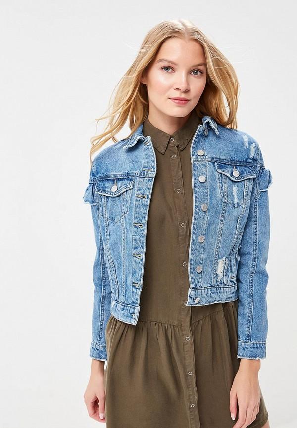 Куртка джинсовая Jennyfer цвет голубой сезон весна, демисезон, лето страна Китай размер 42, 44, 46, 48