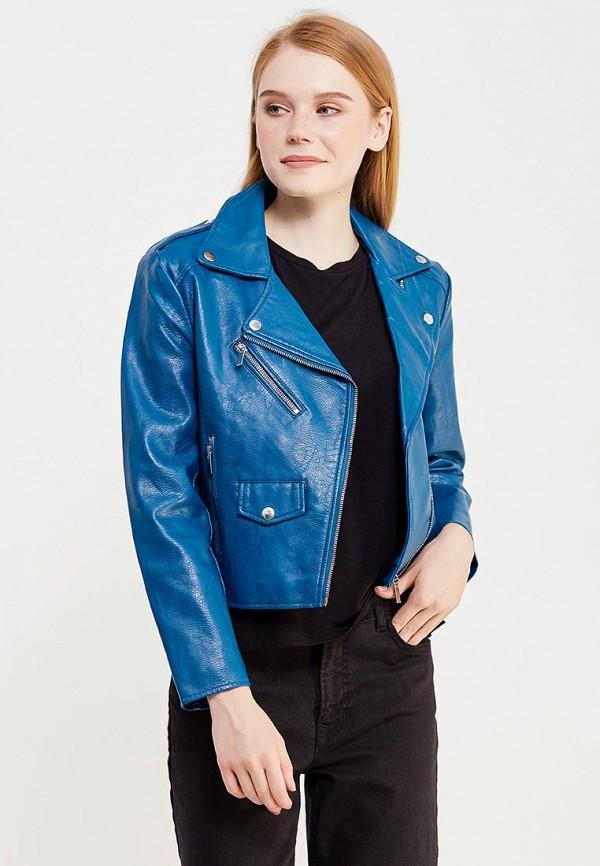 Куртка кожаная Jennyfer. Цвет: синий
