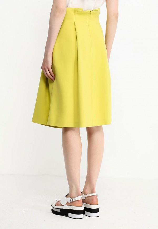 Фото 4 - женскую юбку Jil Sander Navy желтого цвета