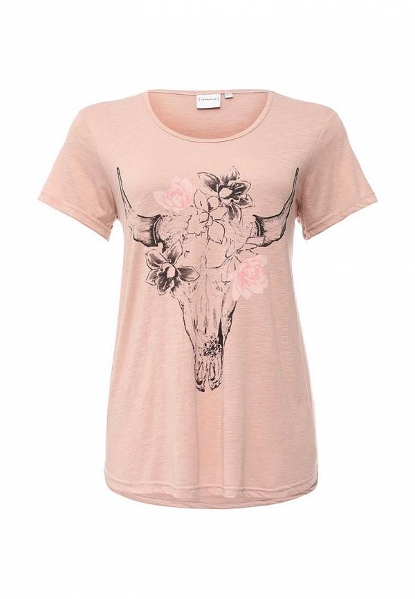 Женская розовая футболка JUNAROSE