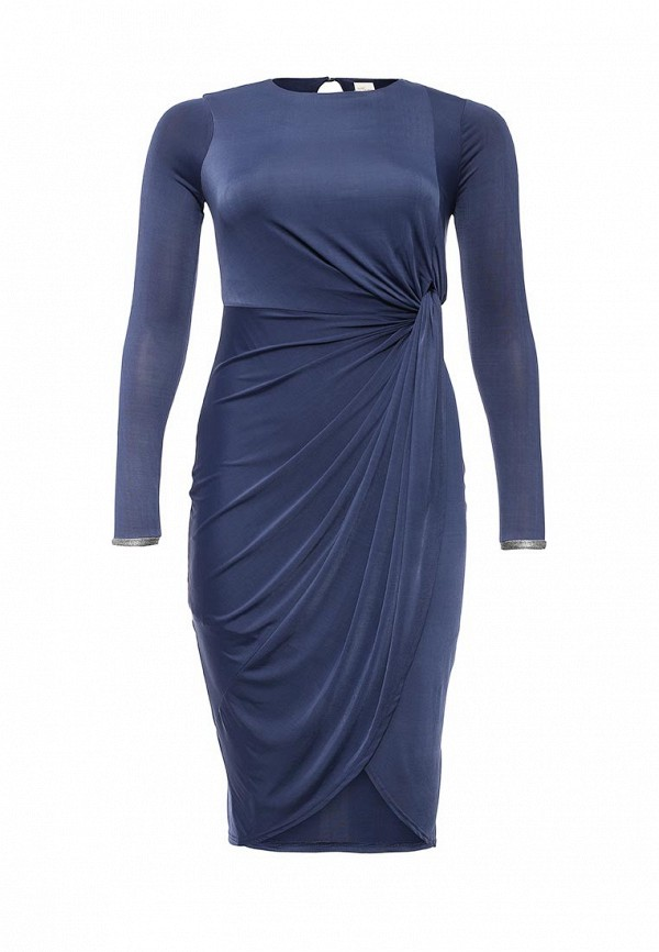 Платье Just Joan SLINKY DRESS WITH KNOT FRONT WITH LUREX CUFF