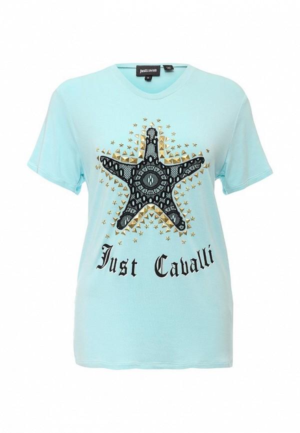Футболка с надписями Just Cavalli S04GC0210N20597