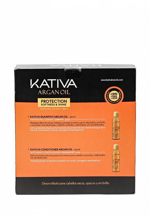 Набор Kativa ARGANA увлажняющий кондиционер + шампунь с маслом Арганы, 2 по 100 мл