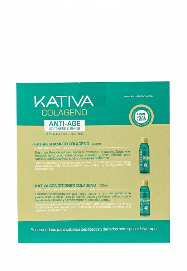 Набор Kativa COLLAGENO коллагеновый шампунь + кондиционер, 2 по 100мл