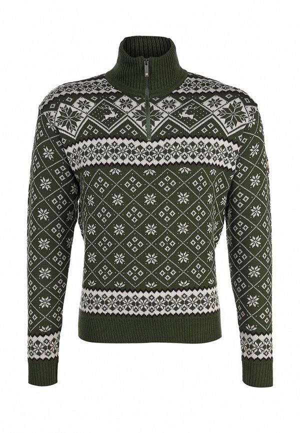 Мужской белый зеленый осенний свитер