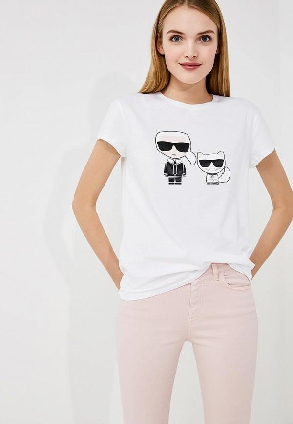 цены на Футболка Karl Lagerfeld Karl Lagerfeld KA025EWAUPN3 в интернет-магазинах