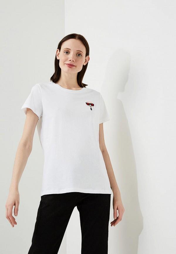 цены на Футболка Karl Lagerfeld Karl Lagerfeld KA025EWAUPO1 в интернет-магазинах