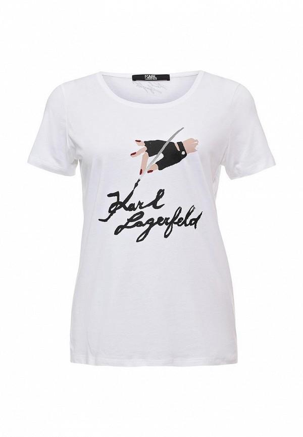 Футболка с надписями Karl Lagerfeld 67KW1705