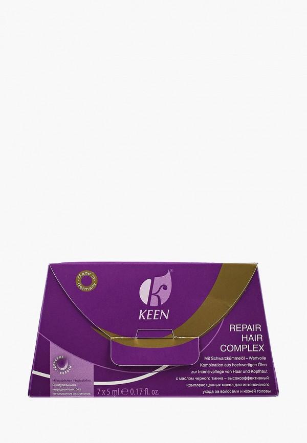 Купить Сыворотка для волос KEEN, восстанавливающая, с REPAIR HAIR COMPLEX, 7 x 5 мл, KE132LWAYYS4, прозрачный, Весна-лето 2018