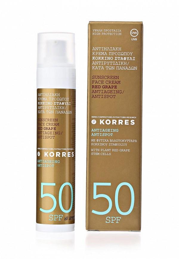 Cолнцезащитный крем Korres для лица против пигментных пятен антивозврастной spf50 50 мл