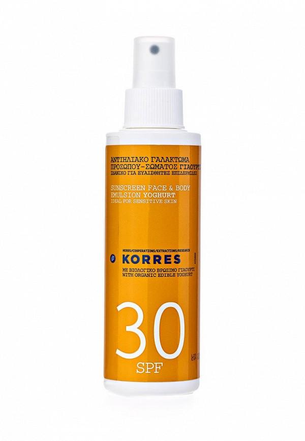 Эмульсия Korres солнцезащитная для лица и тела с йогуртом spf 30 150 мл