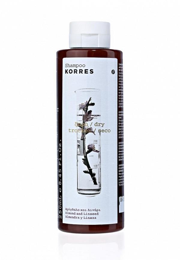 Здесь можно купить для сухих и поврежденных волос с миндалем и семенами льна 250 мл  Шампунь Korres Шампуни
