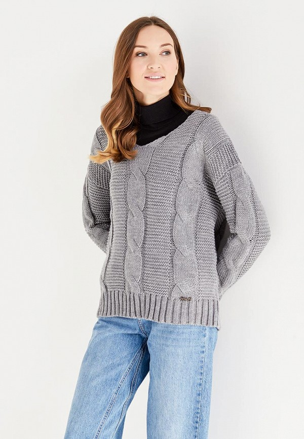 Фото - женский пуловер Koralline серого цвета