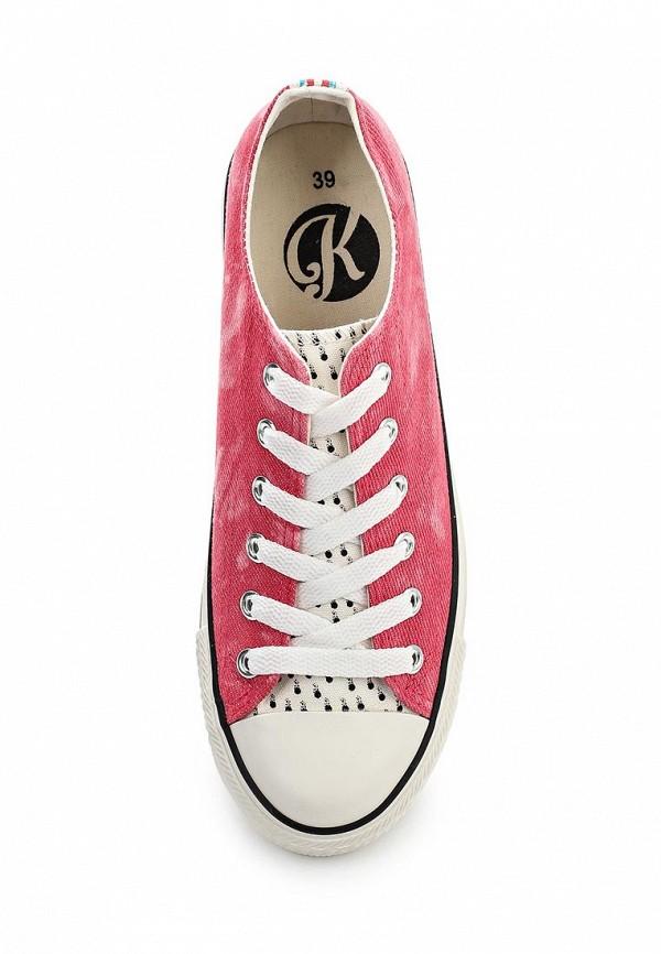 Фото 4 - женские кеды Kylie розового цвета