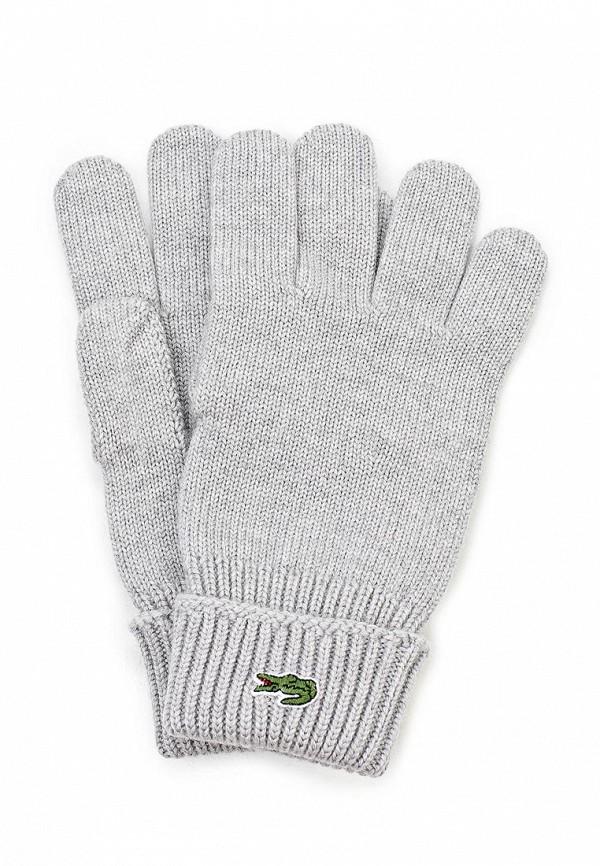 Перчатки Lacoste LA038DUDKD60. Цвет: серый
