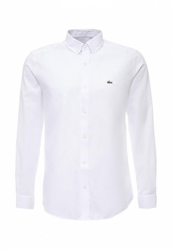 ba3cfe3a8b17 Мужская белая рубашка Lacoste