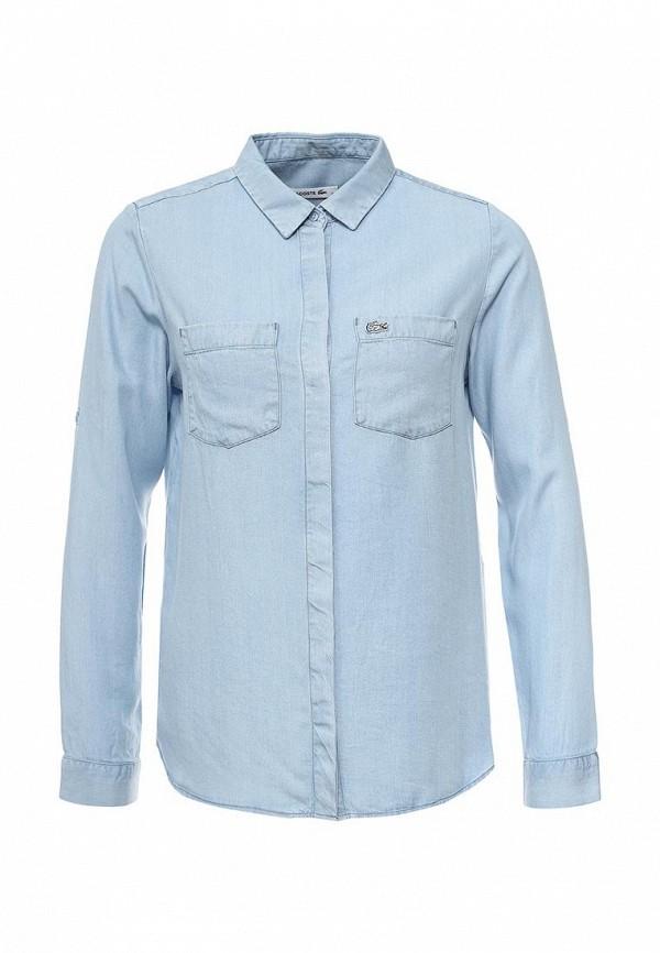 Рубашка джинсовая Lacoste Lacoste LA038EWPZP44 рубашка lacoste