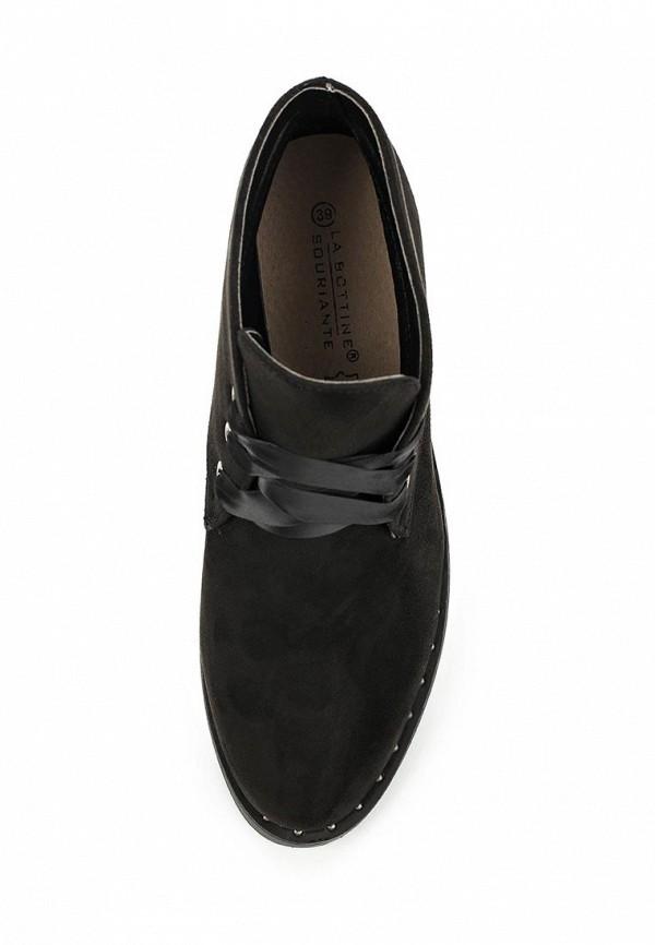 Фото 4 - женские ботинки и полуботинки La Bottine Souriante черного цвета