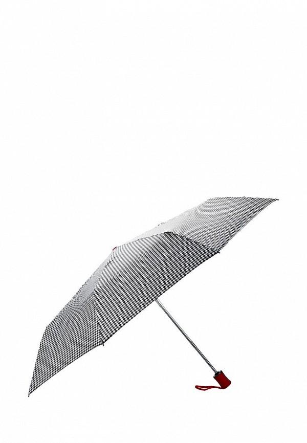 Женский белый черный осенний зонт