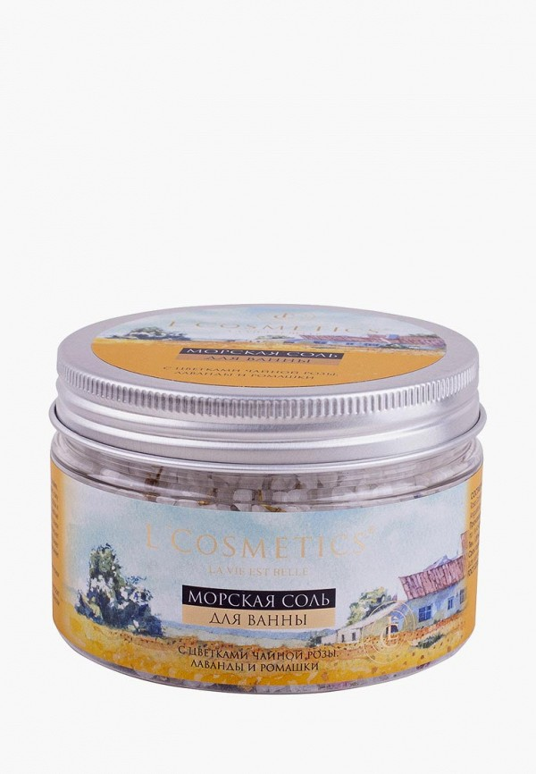Купить Соль для ванн L'Cosmetics, La vie est belle С Цветками чайной розы, лаванды и ромашки, LC002LWBIXL4, прозрачный, Весна-лето 2018
