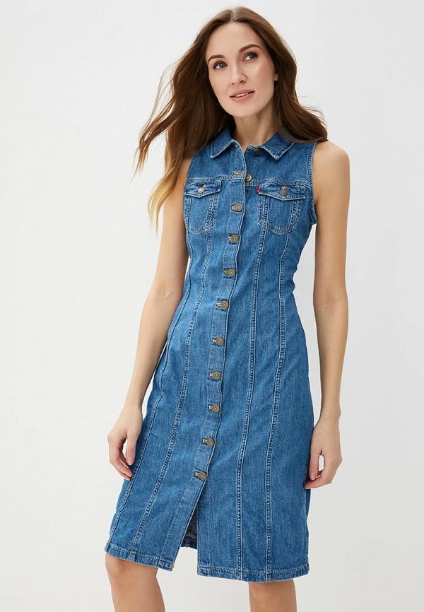 Купить Платье джинсовое Levi's®, LE306EWADGJ7, голубой, Весна-лето 2018