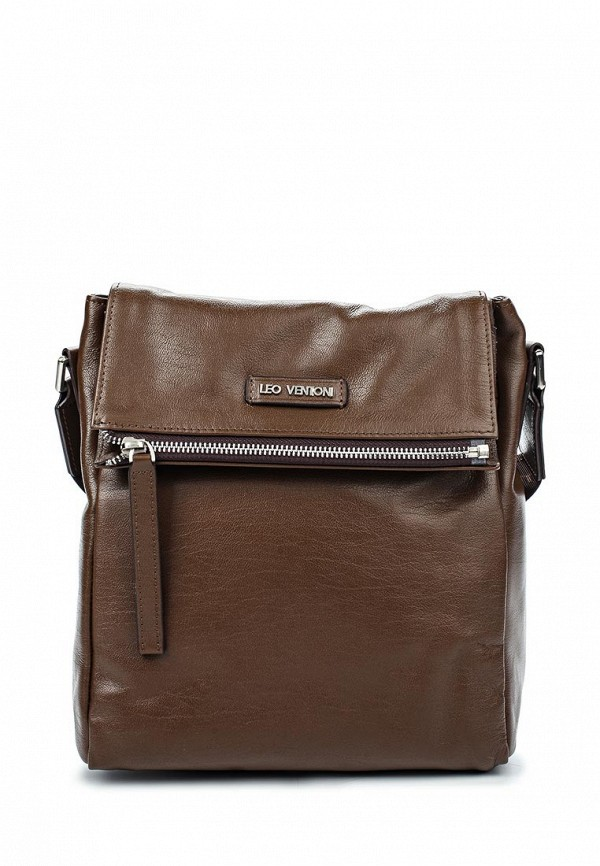 Кожаная сумка Leo Ventoni 03002372-khaki
