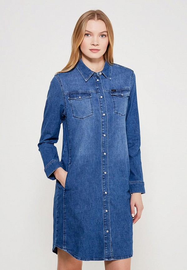 Платье джинсовое Lee Lee LE807EWAKTC2 джинсовое платье