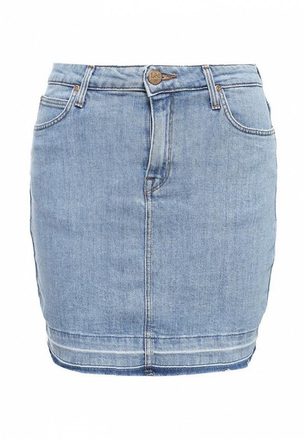 где купить Юбка джинсовая Lee Lee LE807EWQTO94 по лучшей цене