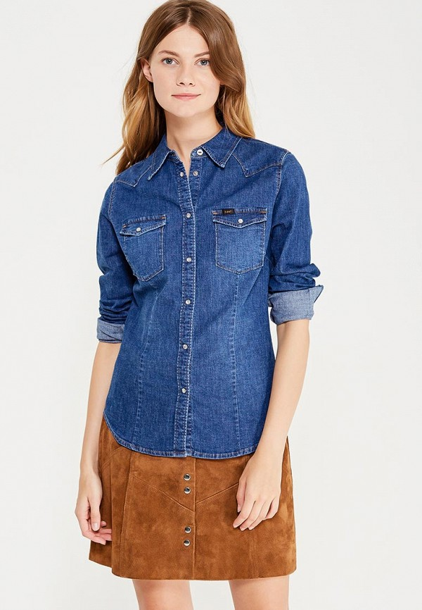 Рубашка джинсовая Lee Lee LE807EWVGX75 ветровка lee lee le807emqto59