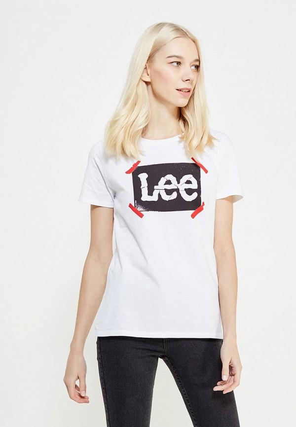 цена Футболка Lee Lee LE807EWZFH30 онлайн в 2017 году