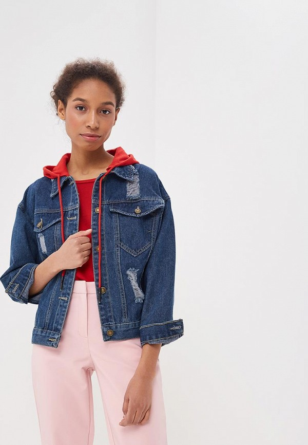 Куртка джинсовая Liana цвет синий сезон весна, демисезон, лето страна Россия размер 44, 46, 48