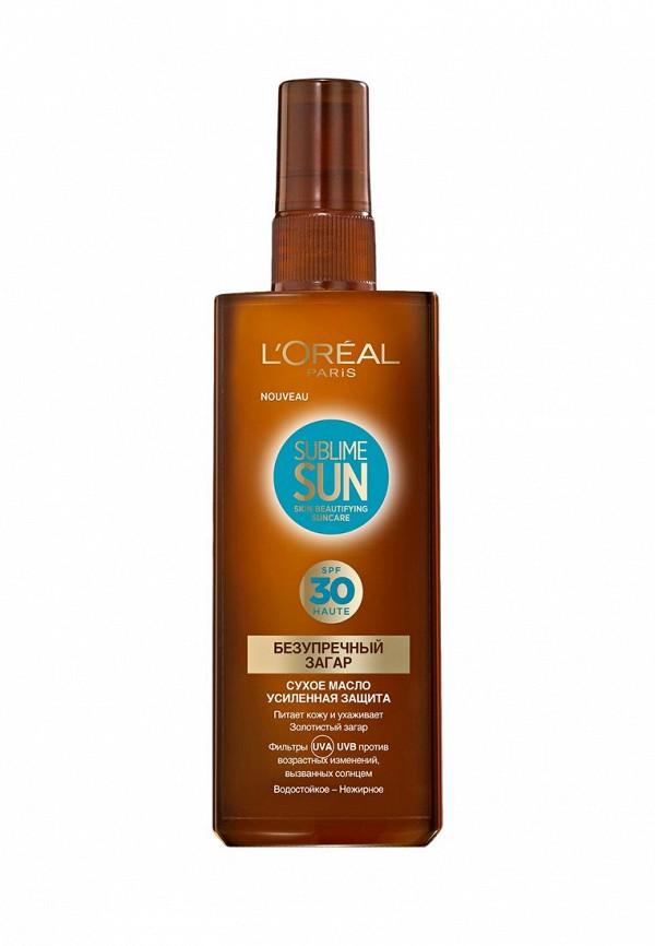 Масло L\'Oreal Paris Сухое Sublime Sun, Безупречный загар, солнцезащитное SPF30 150 мл