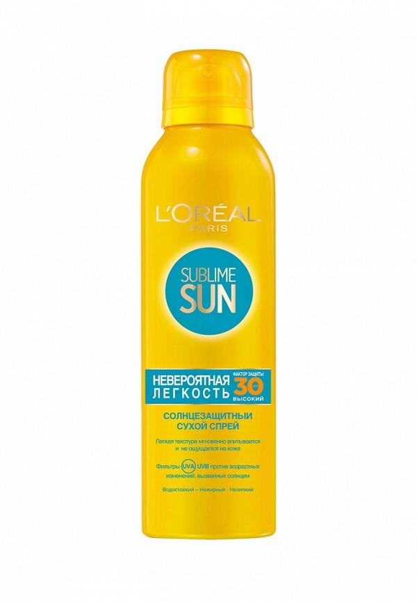 Спрей для тела L\'Oreal Paris Сухой Sublime Sun Невероятная Легкость, солцезащитный SPF30 150 мл
