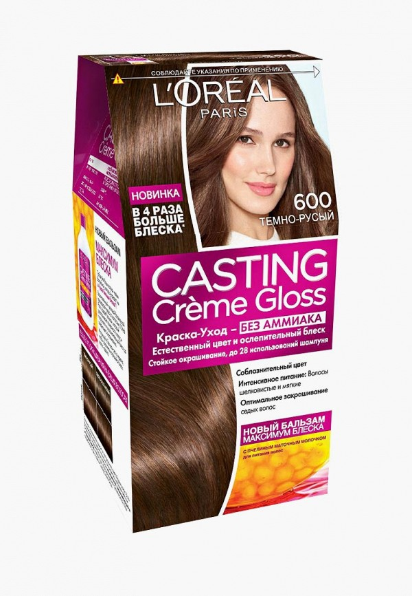 Купить Краска для волос L'Oreal Paris, Casting Creme Gloss, 600 Темно-русый, LO006LWIIW87, Весна-лето 2018