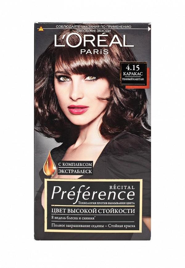 Краска для волос L\'Oreal Paris Preference, 4.15 Каракас