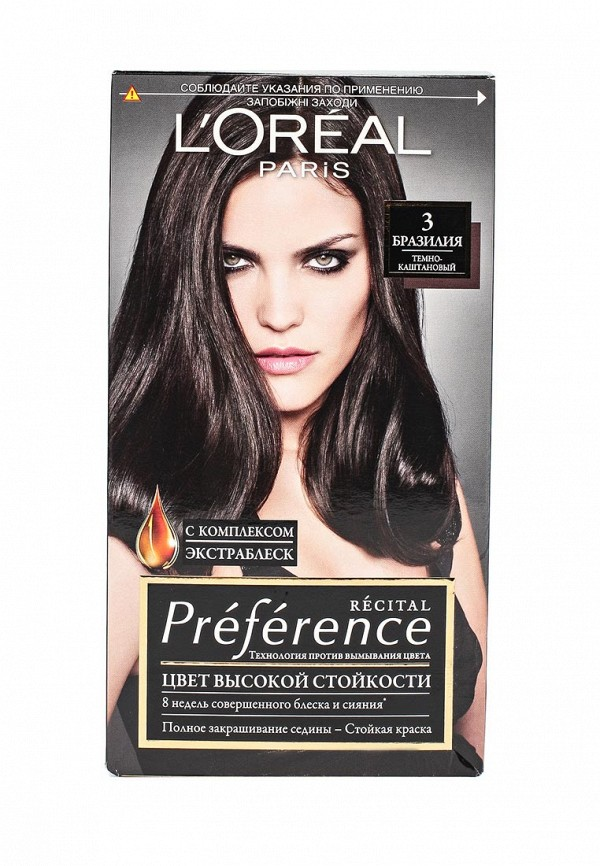 Краска для волос L'Oreal Paris Preference, 3 Бразилия