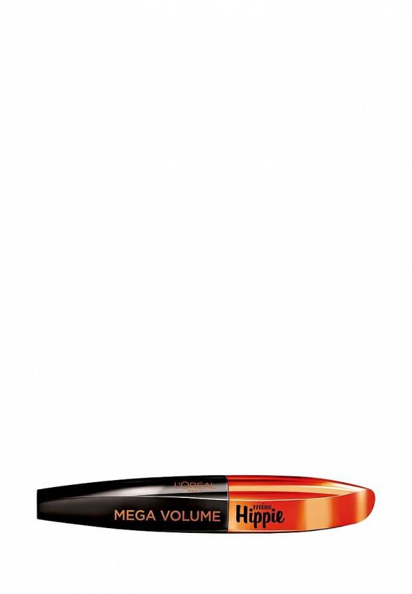 Декоративная косметика L\'Oreal Paris для ресниц Мега Объем Мисс Хиппи, Для мегаобъема верхних и нижних ресниц, Черная, 8,5 мл