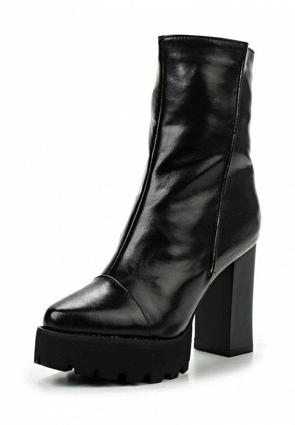 Полусапоги LOST INK HEELED CLEATED MID-HEIGHT BOOT BLACK