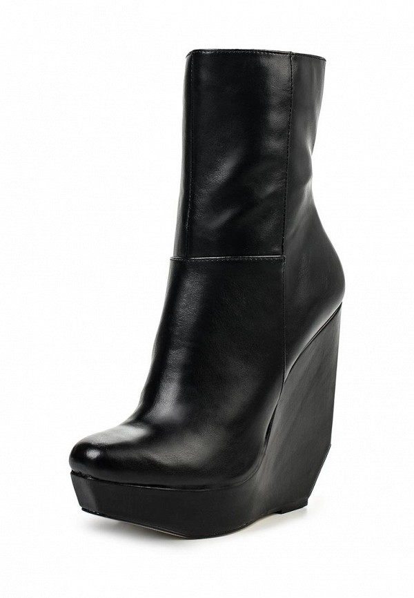 Полусапоги LOST INK CUT OUT WEDGE MID-HEIGHT BOOT BLACK