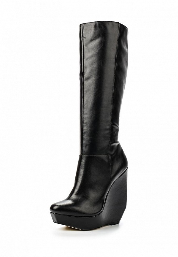 Сапоги LOST INK CUT OUT WEDGE KNEE-HEIGHT BOOT BLACK